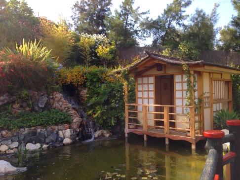 Japanese Garden at Molino de Inca Botanical Gardens in Torremolinos