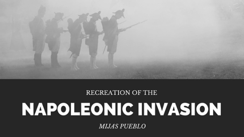 Recreation of the napoleonic invasion of Mijas Pueblo