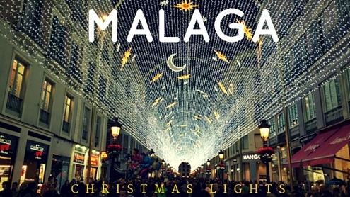 Malaga Christmas Lights in Calle Larios