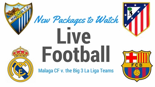 Malaga v the big 3 la liga teams