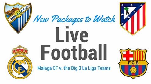 Malaga v the big 3 la liga teams