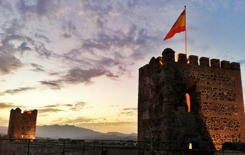 Sohail Castle at Sunset