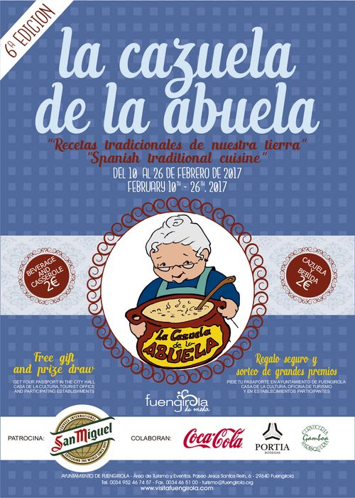 Poster for the Cazuela de la Abuela in Fuengirola