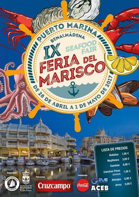 Cartel de Feria del Marisco Benalmádena