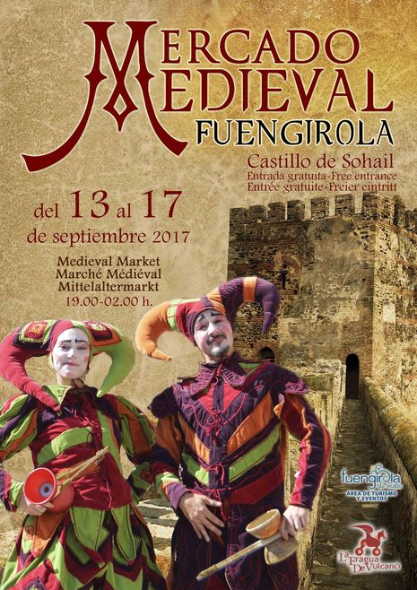 poster for medieval market in Fuengirola