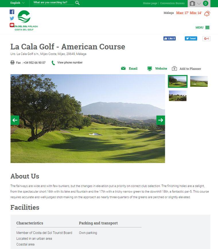 Information about La Cala Golf