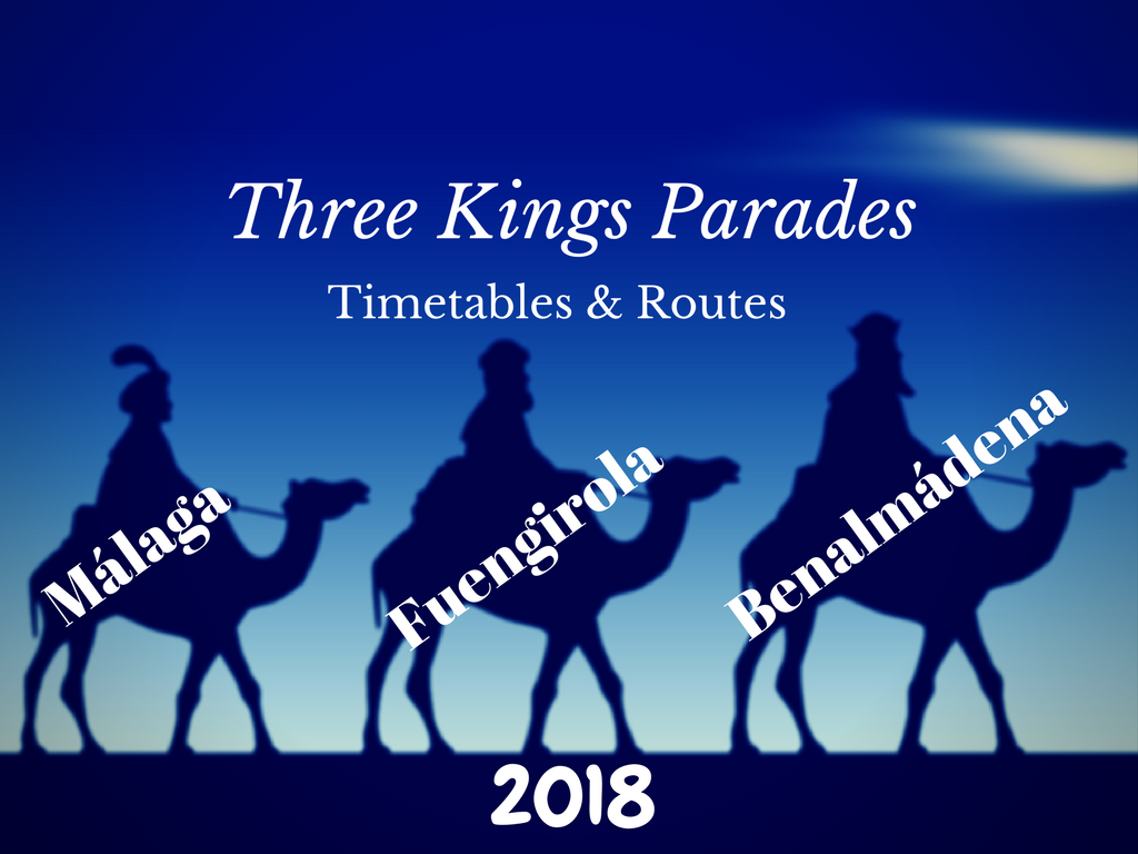 Three Kings Parades in Malaga, Benalmadena and Fuengirola