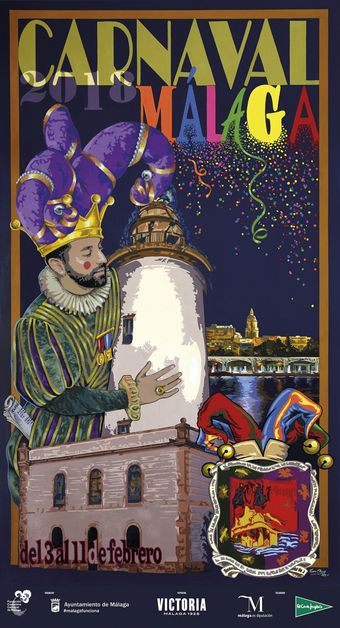 Poster for the 2018 Malaga Carnival