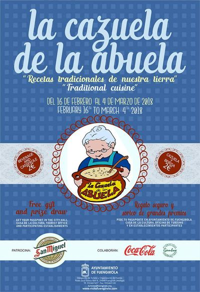 poster for Grandma's Casserole event in Fuengirola