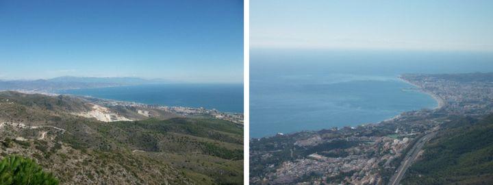 The views from Mount Calamorro in Benalmadena