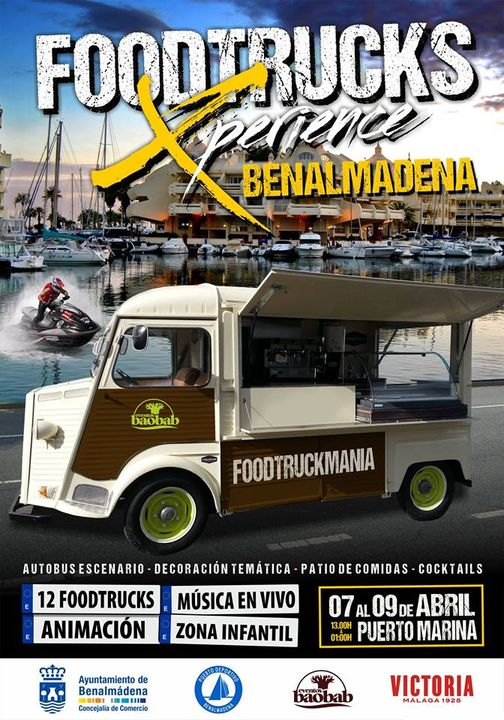 Poster for food truck experience in Benalmadena