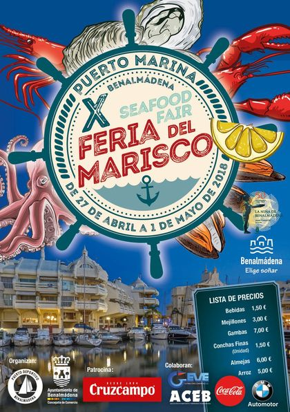 Seafood fair in Benalmadena 2018