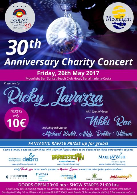 Poster for 30th Anniversary Charity Concert