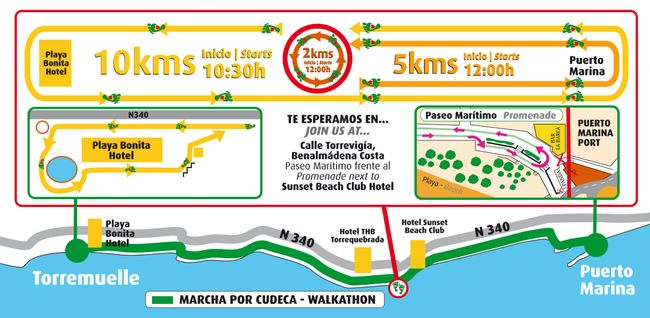 Cudeca Walkathon Map