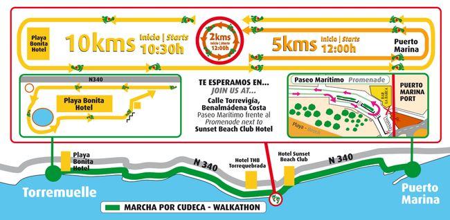 Cudeca Walkathon Map