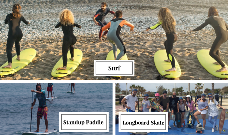 Surf and Stand up Paddle Surf in Benalmadena