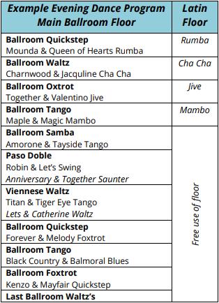 Evening Dance Programme