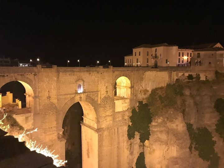 The Ronda Gorge at night
