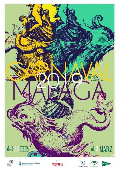 Malaga Carnival Poster 2019