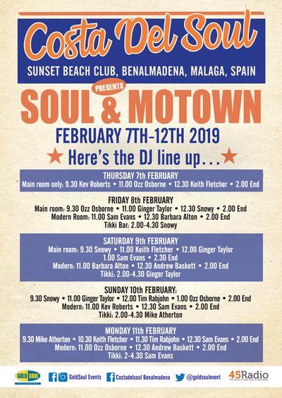Costa del Soul poster February 2019