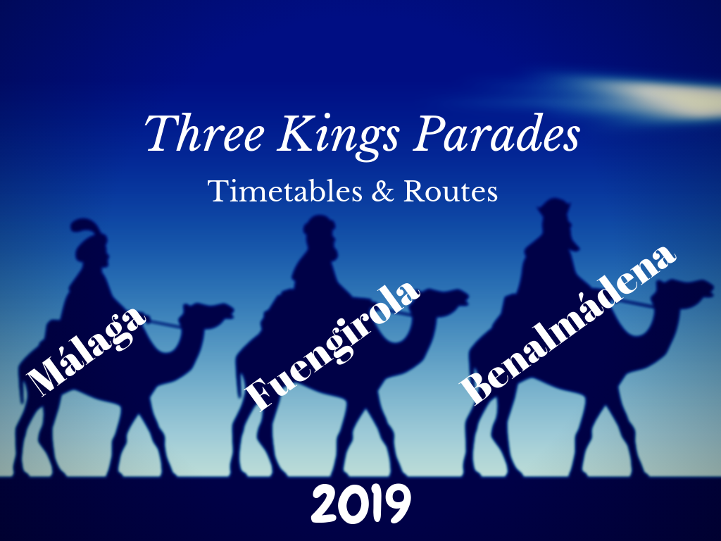Three Kings Parade in Benalmadena, Fuengirola & Malaga