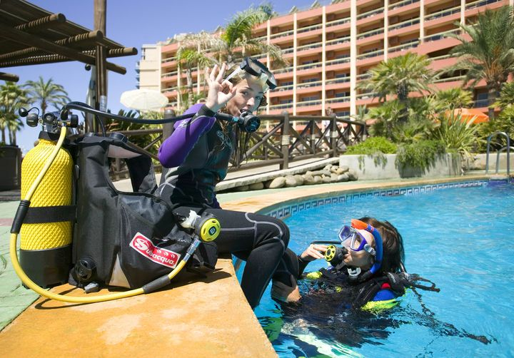 Scuba diving at Sunset Beach Club, Benalmadena