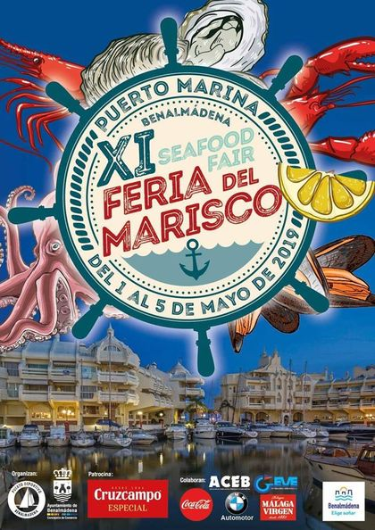 Poster for the Benalmadena Seafood Fair (Feria del Marisco)