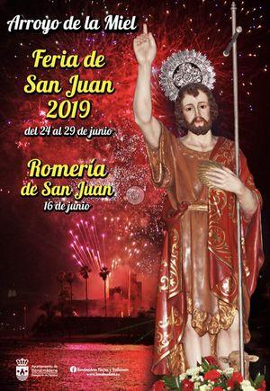 Poster for the Arroyo de la Miel Fair 2019
