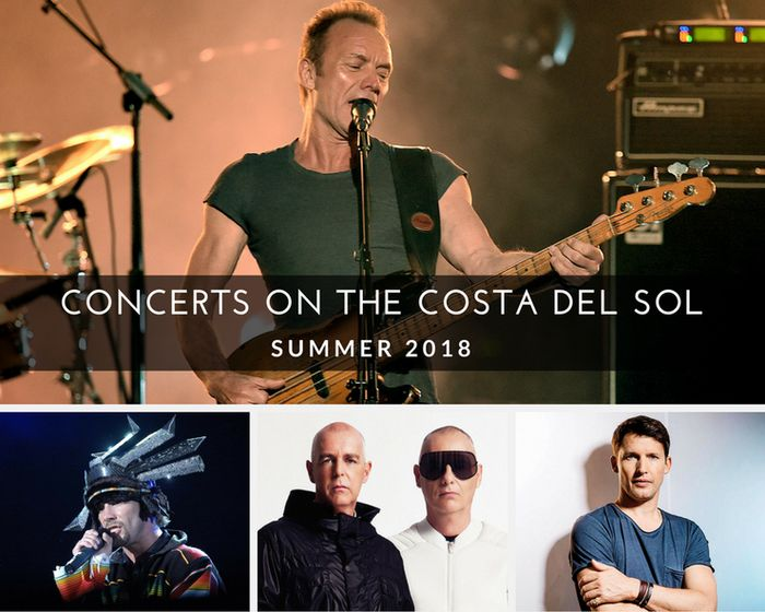 Concerts on the Costa del Sol Summer 2018