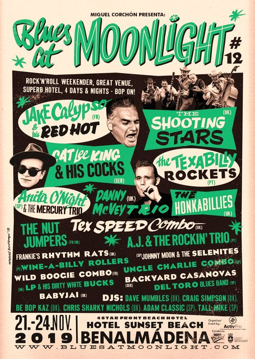 Poster for the Blues at Moonlight Music Festival 2019