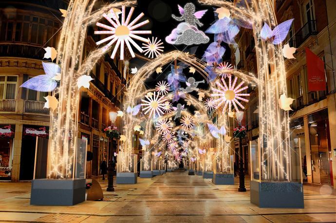 Malaga Christmas Lights 2019