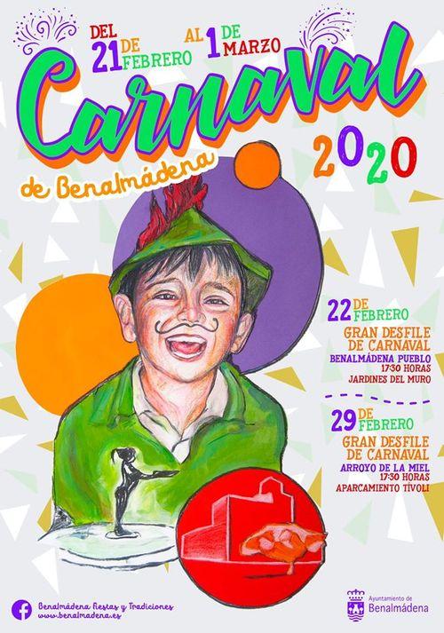 Poster for Benalmadena Carnival 2020