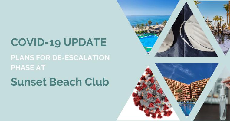 Covid-19 update at Sunset Beach Club