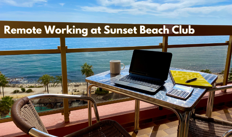 Remote working in Benalmadena at Sunset Beach Club